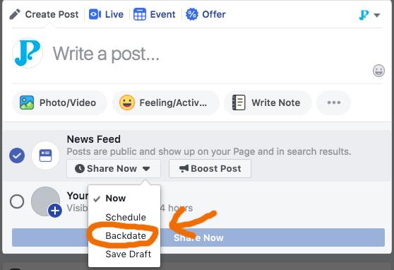 facebook-backdate