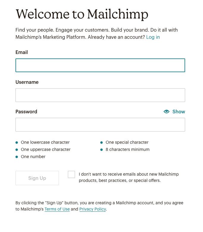 mailchimp-registracija